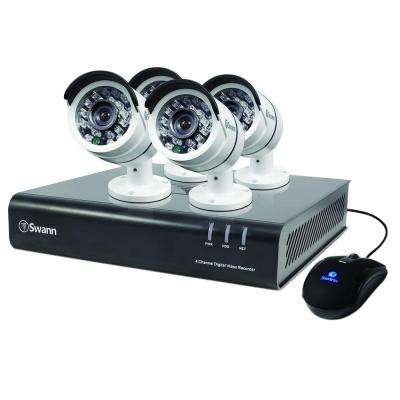 4500 Series 4-Channel TVI 1080p DVR with 500 GB and 4 x Bullet White Cameras
