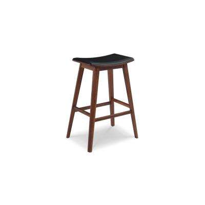 Terra 26 in. Exotic 100% Solid Bamboo Counter Stool with Molded Polyurethane Seat (Set of 2)