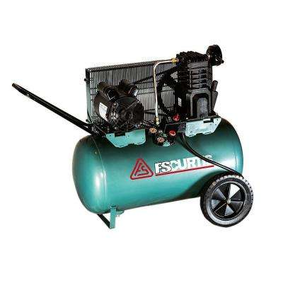 20 Gal. 2 HP Portable Electric 120-Volt Single Phase Horizontal Air Compressor