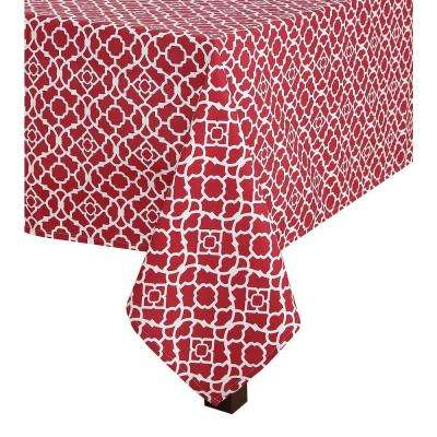 60 in. x 120 in. Waverly Lexie Indoor/Outdoor Tablecloth