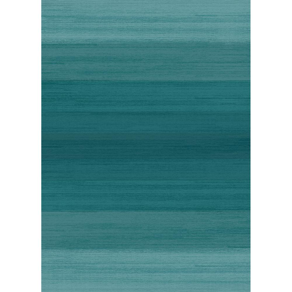 Ruggable Washable Ombre Blue 5 Ft X 7 Stain Resistant Area Rug