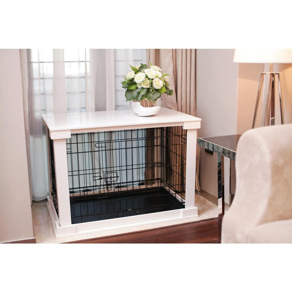 Zoovilla Dog Crate With White Cover Small