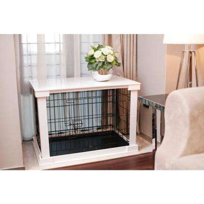 Dog Crate with White Cover - Small