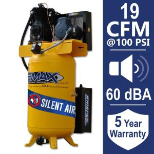 EMAX Industrial PLUS 80 Gal. 5 HP 1-Phase Silent Air Electric Air Compressor by EMAX