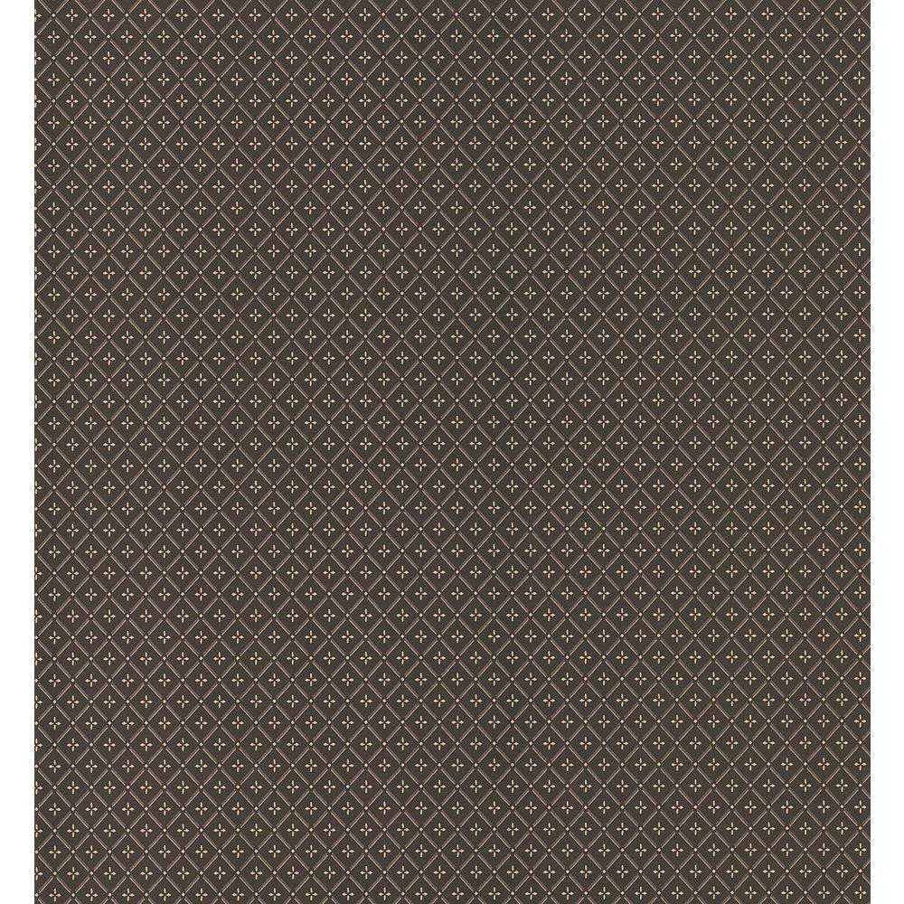 Brewster 56 sq. ft. Small Geometric Wallpaper