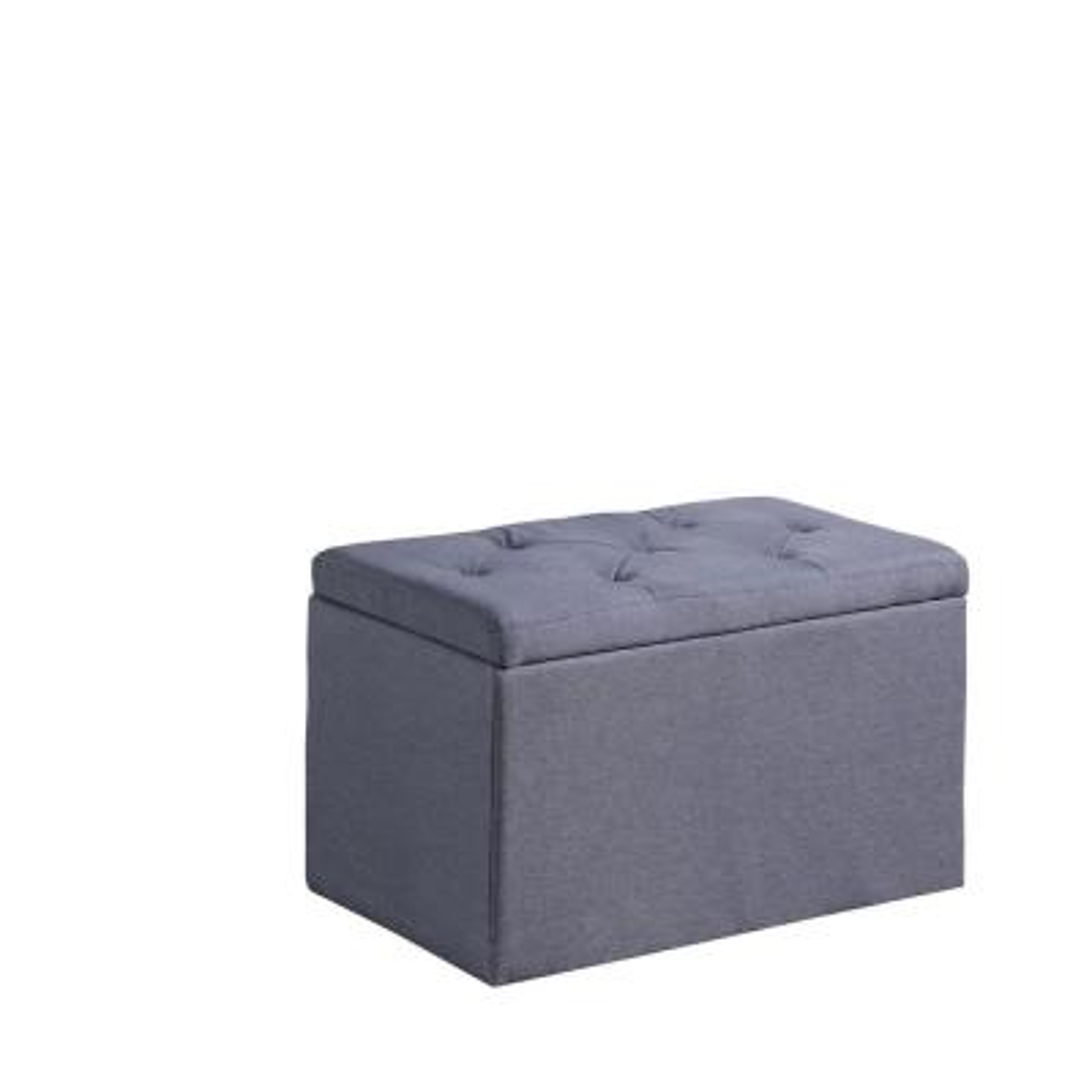 Dove Gray Shoe Tufted Gauze Storage Bench