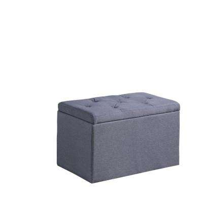 Dove Gray Shoe Tufted Gauze Storage Bench