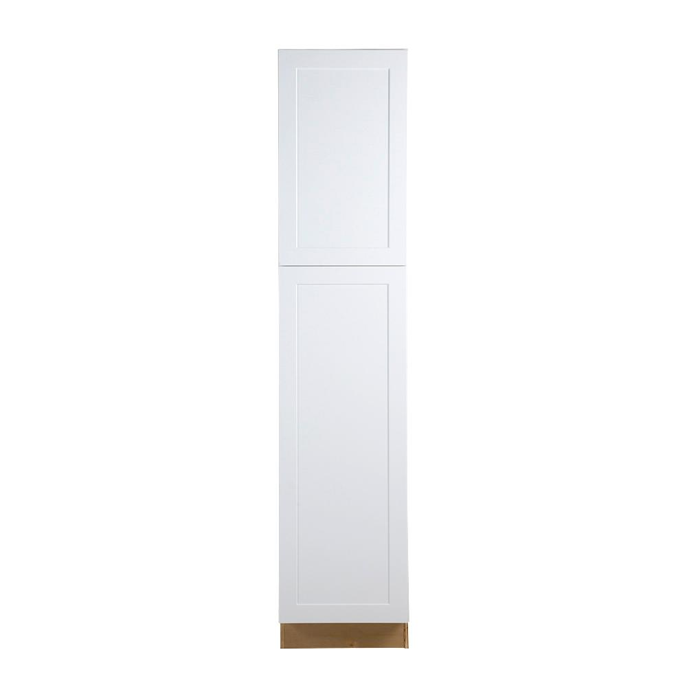 Cambridge Assembled 18x84x24 in. Pantry/Utility Cabinet in White