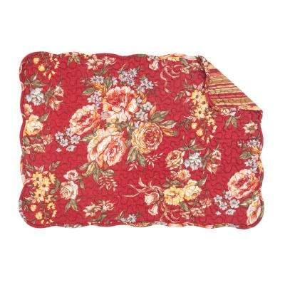 Red Claire Quilted Placemat (Set of 6)