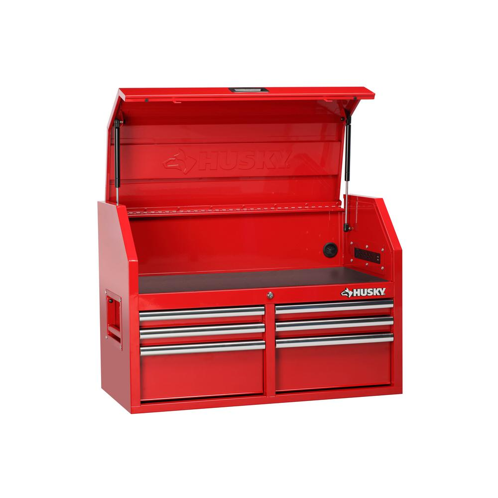 Husky 36 in. 6-Drawer Top Chest Red-H36CH6LER - The Home Depot