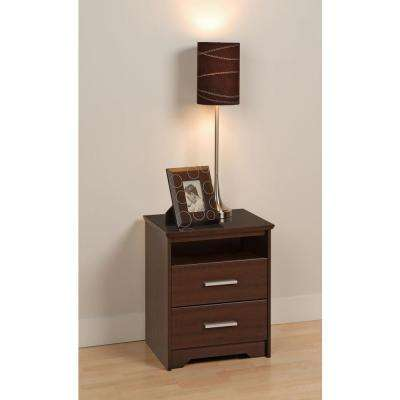 Coal Harbor 2-Drawer Espresso Nightstand