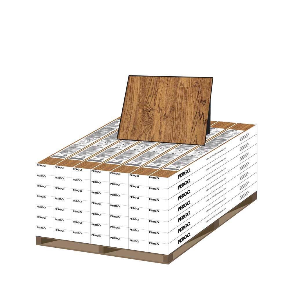 XP American Handscraped Oak 10 mm Thick x 4-7/8 in. Wide x 47-7/8 in. Length Laminate Flooring (641.9 sq. ft. / pallet)