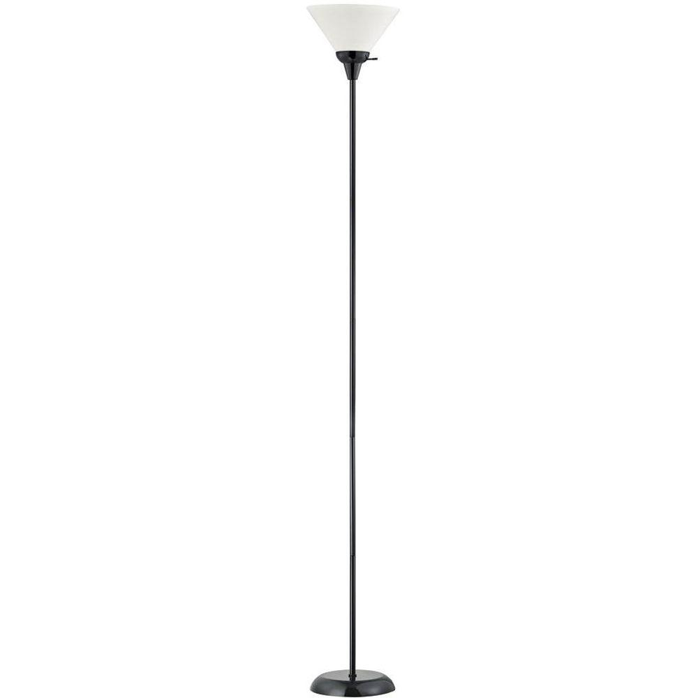 Contemporary Black Torchiere Floor Lamp