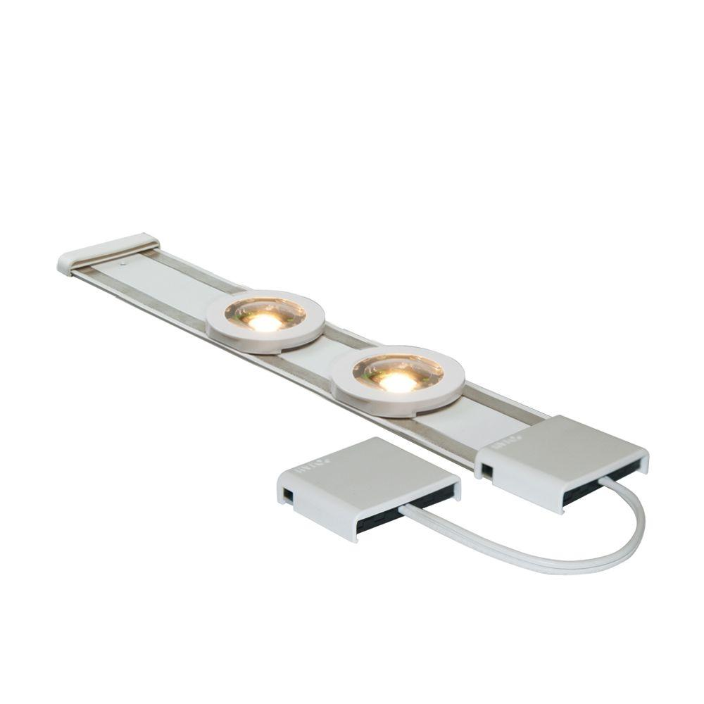 LED White Under Cabinet Track Lighting Extension Kit