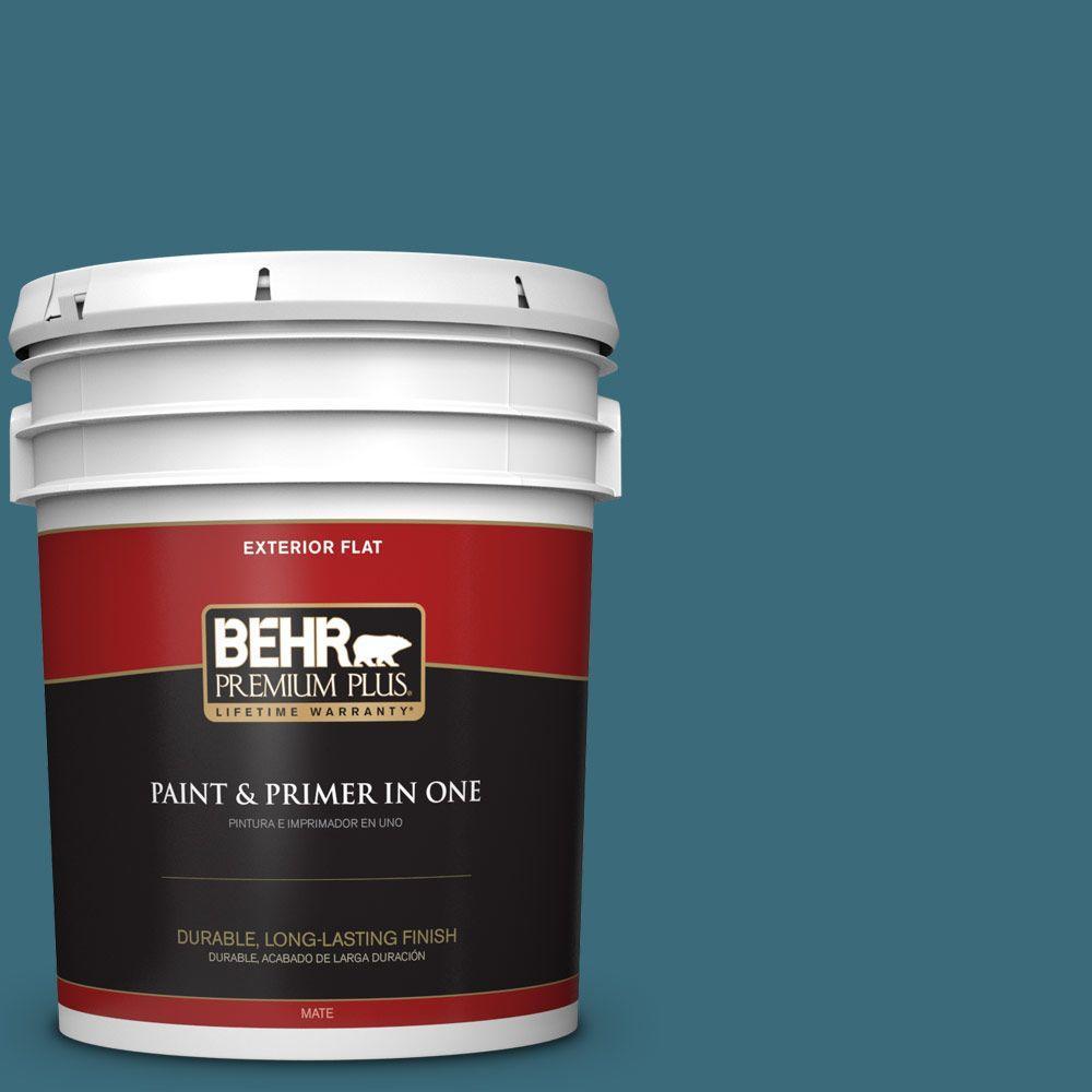BEHR Premium Plus 5-gal. #S460-6 Mammoth Mountain Flat Exterior Paint