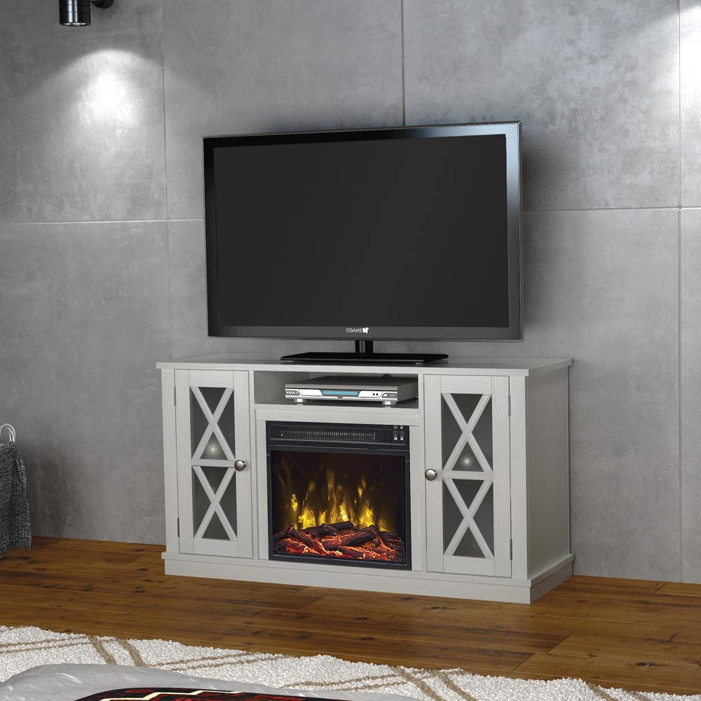 real flame harlan grand 55 in electric fireplace in white. Black Bedroom Furniture Sets. Home Design Ideas