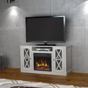 Classic Flame Bayport 47.50 inch Media Console Electric Fireplace in White by Classic Flame