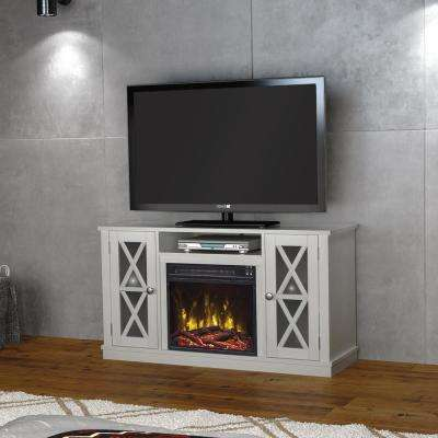 Bayport 55 in. Media Console Electric Fireplace in White