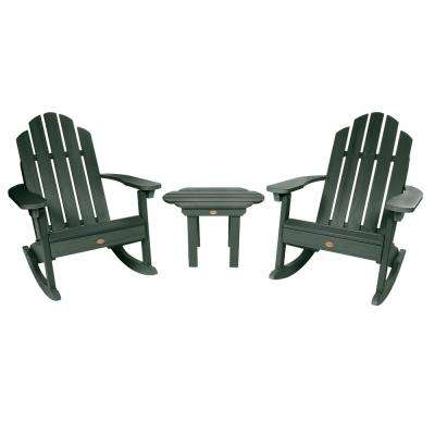 Classic Wesport Charleston Green 3-Piece Recycled Plastic Patio Conversation Set