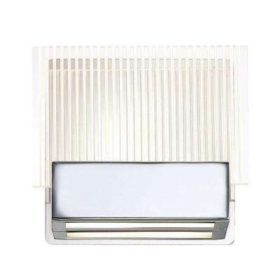 Sonic Collection 6-Watt Chrome Integrated LED Sconce