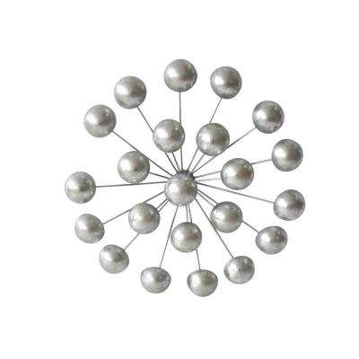 Silver Orb Wall Sculpture 15.25""