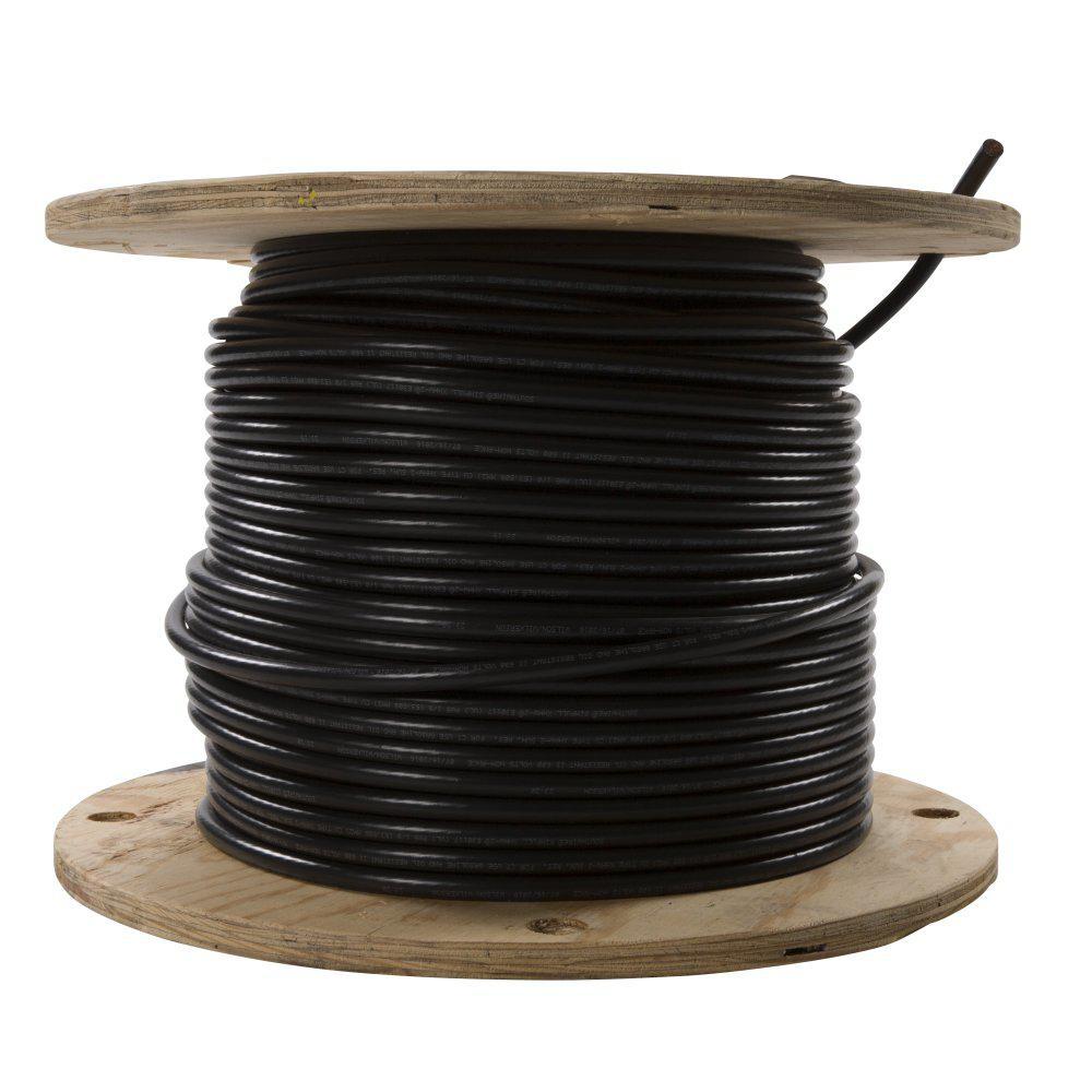 southwire 500 ft 1 0 black stranded xhhw wire 11300105 the home depot