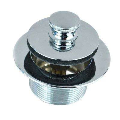 1.865 in. Overall Diameter x 11.5 Threads x 1.25 in. Lift and Turn Bathtub Closure in Chrome Plated