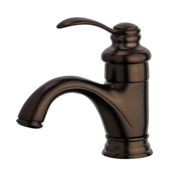 Barcelona Single Hole Single-Handle Bathroom Faucet with Overflow Drain in Oil Rubbed Bronze