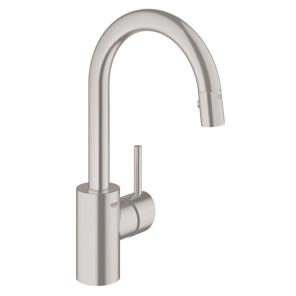 Grohe  Concetto Single Handle Pull Down Spray Kitchen Faucet
