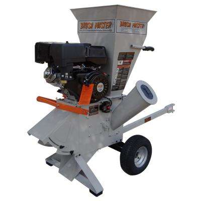5 in. x 3.5 in. 15 HP Gas Powered Commercial Duty 420cc Chromium Feed 120 Volt Electric Start Wood Chipper-Shredder