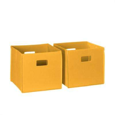 Delicieux Folding Storage Bin Set In Yellow (2