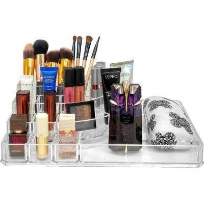 Sorbus 8.5 in. x 3.25 in. Stackable 1-Cube Cosmetic Organizer in Acrylic