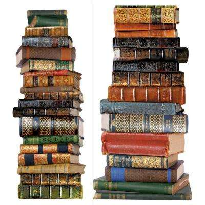 18 in. x 5 ft. 8 in. Book Stack Wall Decal