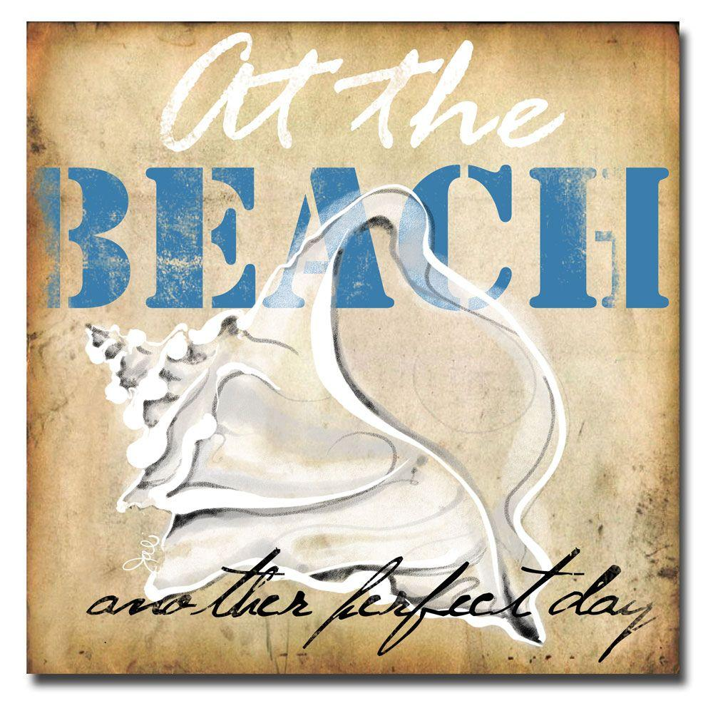 null 35 in. x 35 in. At the Beach Canvas Art-DISCONTINUED