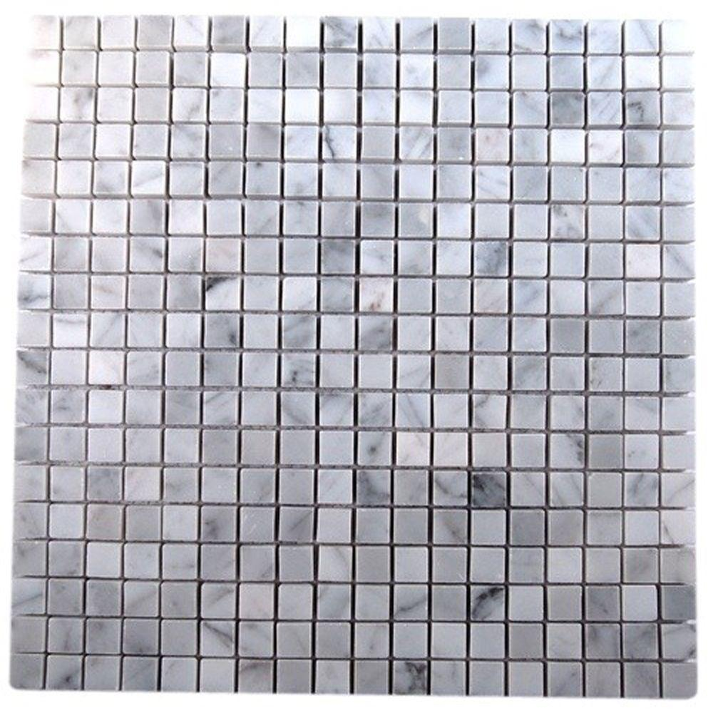 Ivy Hill Tile Oriental Squares 12 in. x 12 in. x 8 mm Marble Floor and Wall Tile