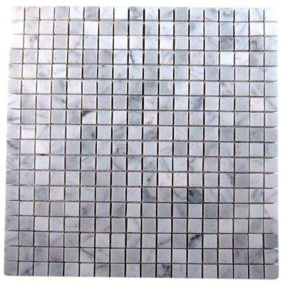 Oriental Squares 12 in. x 12 in. x 8 mm Marble Floor and Wall Tile