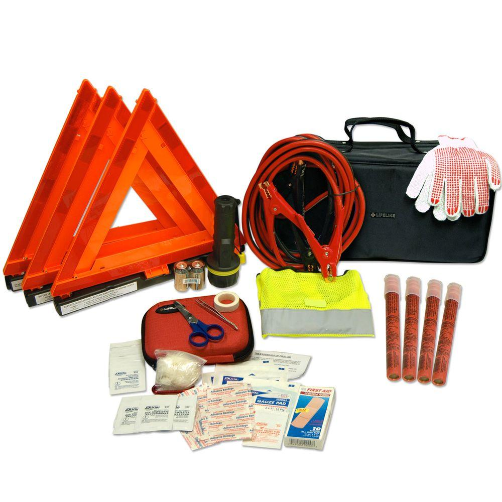 Lifeline 67-Piece DOT Emergency Road Safety and First Aid Truck Kit