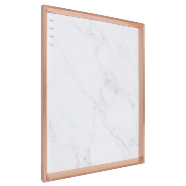 Kate And Laurel Calter Rose Gold Marble Magnetic Memo Board 213944 The Home Depot