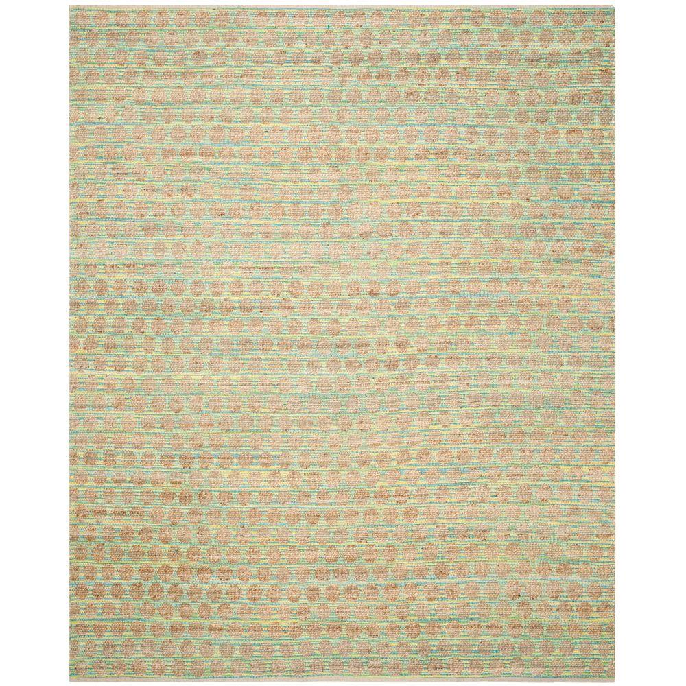 Safavieh Cape Cod Teal/Natural 8 ft. x 10 ft. Area Rug