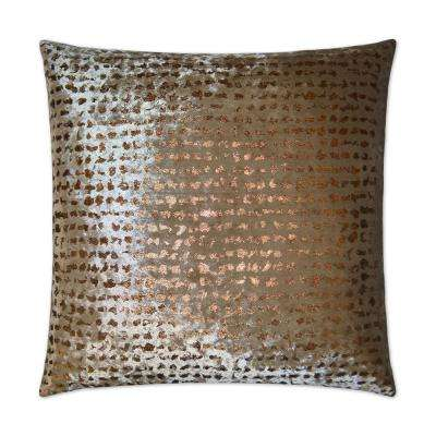 Stealth Bronze Feather Down 24 in. x 24 in. Standard Decorative Throw Pillow
