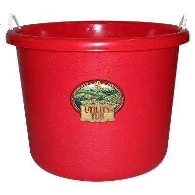 17.5 Gal. Bucket Utility Tub For Maintenance Cleaning Growing and More Picker Red