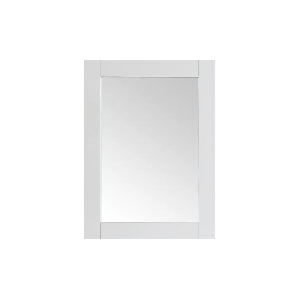 22.00 in. W x 30.00 in. H Framed Rectangular  Bathroom Vanity Mirror in White