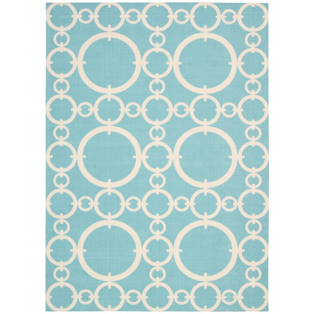 Famous Nourison Bits and Pieces Seaglass 8 ft. x 11 ft. Area Rug-147639  KP15
