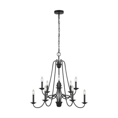 Boughton 10-Light Antique Forged Iron Chandelier