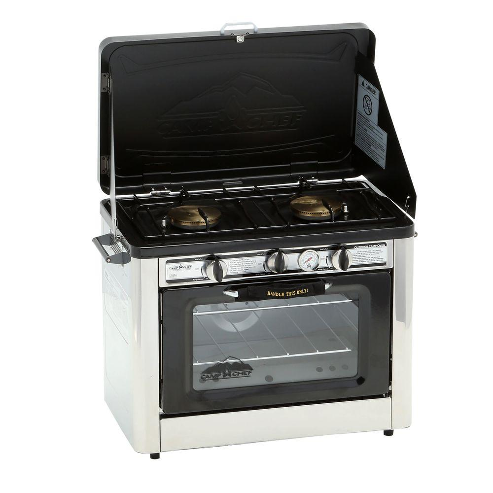 Camp Chef Outdoor Double Burner Propane Gas Range And Stove Coven The Home Depot