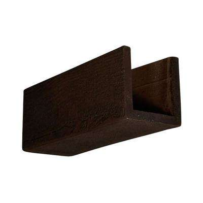 6 in. x 6 in. x 12 in. 3 Sided (U-Beam) Rough Sawn Espresso Endurathane Faux Wood Ceiling Beam Premium Sample