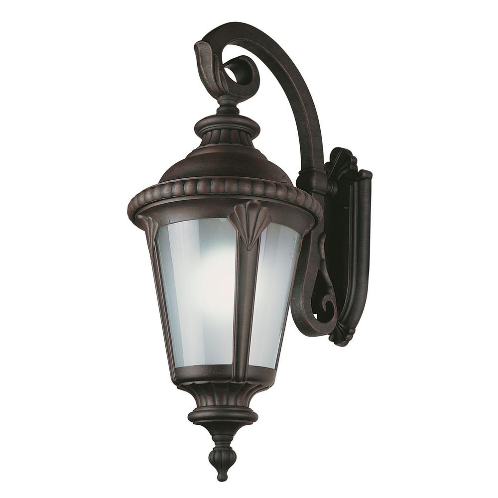 Commons 1-Light Rust Outdoor Wall Mount Lantern