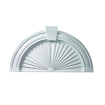 54 in. x 29 in. x 2-5/8 in. Polyurethane 7 in. Panel Arch with Sunburst and Keystone