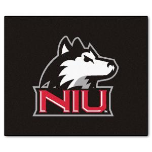NCAA Northern Illinois University Black 5 ft. x 6 ft. Area Rug