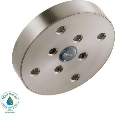 1-Spray 5-1/2 in. H2Okinetic Showerhead in Stainless